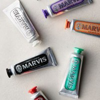 Marvis Travel Toothpaste Gift Set in Silver Size: Set Of 7 Gift Sets