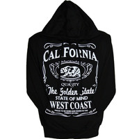 CALIFORNIA QUALITY BLACK   HOODIE