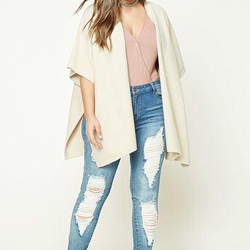 Plus Size Brushed Knit Cardigan