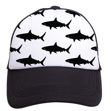 Sharks Trucker Hat (Toddler) by Tiny Trucker Co.