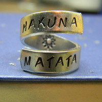 The original Hakuna Matata twist aluminum ring