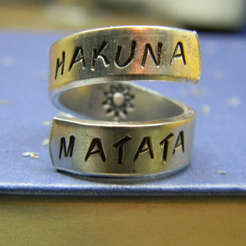 Pre-order The original Hakuna Matata twist aluminum ring Version II