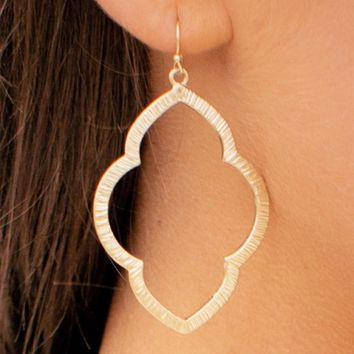 Moroccan Earrings in Gold | Monday Dress Boutique