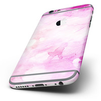The Pink v4 Absorbed Watercolor Texture Six-Piece Skin Kit for the iPhone 6/6s or 6/6s Plus