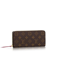 Louis Vuitton Monogram Canvas Fuchsia Clemence Wallet M60742