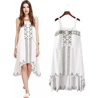 Stylish Embroidery Spaghetti Strap Women's Fashion One Piece Dress [4920230404]