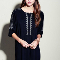 Embroidered Peasant Tunic