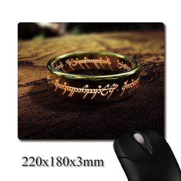 the one ring of lord of the rings printed Heavy weaving anti-slip rubber pad office mouse pad Coaster Party favor 220x180x3mm