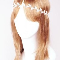 Mystic Goddess Grecian Laurel Leaf Headband in Ivory | Sincerely Sweet Boutique