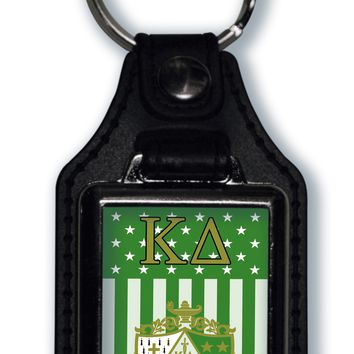 Kappa Delta US Flag Style Licensed Greek Life Keychain