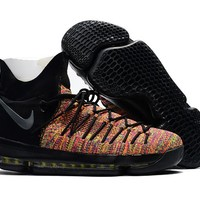 2017 Nike  Zoom KD 9  Kevin Durant 9 Ⅸ  Black Colorful  Basketball Shoes