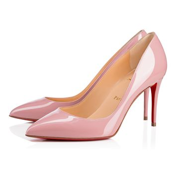 Pigalle Follies 85 Voile Patent Leather - Women Shoes - Christian Louboutin