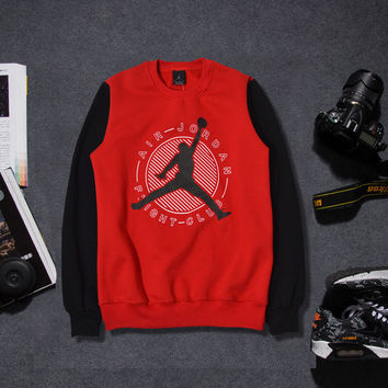 Pullover Tops Round-neck Casual Sports Cotton Hoodies [9302716871]