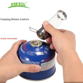 BRS Outdoor Butane Lantern Durable Lightweight Camping Gas Lamp Stainless steel Gas Tent Candle Light  Lamp Accessories with Box