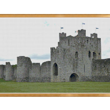 Trim Castle Ireland Cross Stitch Pattern