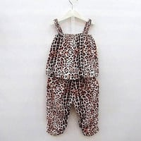 Kids Baby Girls Children Leopard Vest + Pants Clothes Suits Outfits Clothing Sets