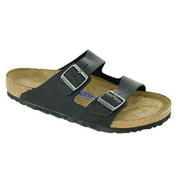 Birkenstock Women's Arizona Soft Footbed Black Oiled Leather
