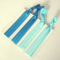 Shades of Blue Elastic Hair Ties No Crease Hair Ties Ponytail Holder Hair Accessories