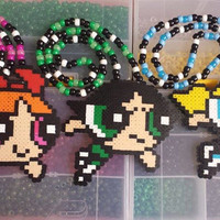 1 Powerpuff Girls Kandi Necklace for Raves, Music Festivals and Concerts