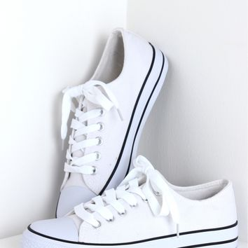 Lace Up Sneakers White