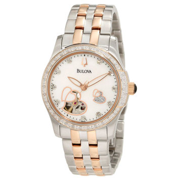 Bulova 98R154 Women's BVA Series Diamond MOP Dial Two Tone Automatic Watch