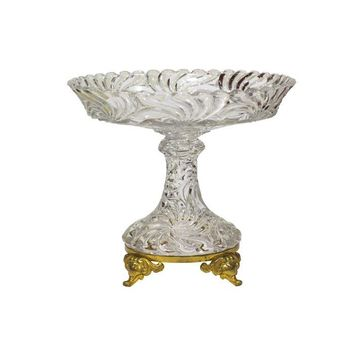 Pre-owned Baccarat Crystal Compote with Brass Feet