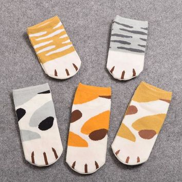 DCCKL3Z 1Pair Girls Cute Cat Claw Style Short Ankle Socks Anime Neko Atsume Cosplay Props