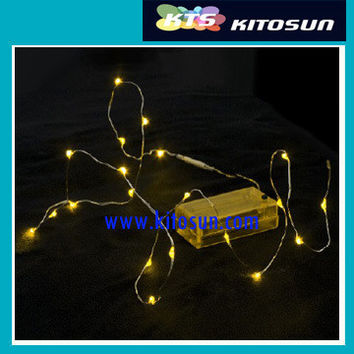 5pcs/bag color 2M long 20lights Wedding Party Festival Christmas Decoration coin battery Powered LED String Lights