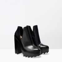 Track sole bootie