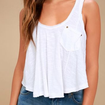 Stevie White Backless Tank Top