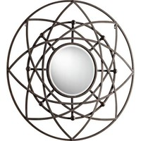 "Robles 39"" Round Decorative Iron Wall Mirror - #X7217 