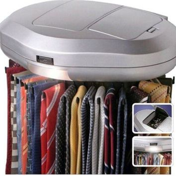 Tie Belt Necktie rotates Revolving  30 PCS Organizer Closet Mounted Rack Holder