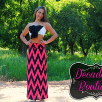 FOLLOW THE CHEVRON BRICK ROAD MAXI SKIRT