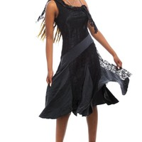 Vintage 90's Gothic Lily Maxi Dress - XS/S