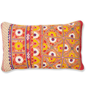Tilly Embroidered Lumbar Pillow