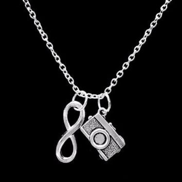 Infinity Camera Lens Photographer Take A Picture Gift Necklace