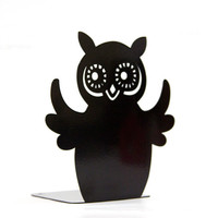 Bookend -Owl reader- laser cut for precision strong enough to hold a bunch of your favorite books