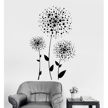 Vinyl Wall Decal Dandelions Flowers Florist Floral Art Decoration Stickers Unique Gift (ig3369)