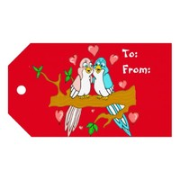 Lovebirds Valentine's Day Gift Tags