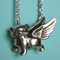 Winged Kitten Necklace