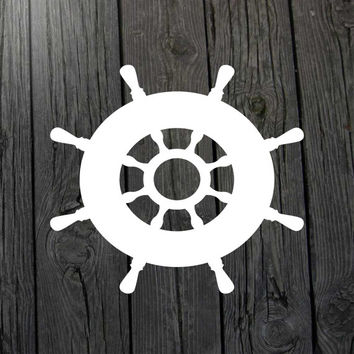 Boat wheel decal Nautical decal Anchor decal Nautical car decal Anchor car decal Nautical wall decal Nautical decor Nautical nursery decal