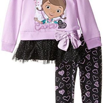 Disney Little Girls' 2 Piece Doc McStuffins Dottie Always There To Care Legging Set