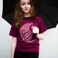 SALE Paisley yin-yang shirt-  made to order