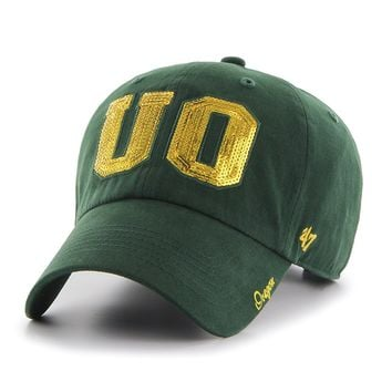 NCAA Oregon Ducks Women's Sparkle Clean Up Adjustable Hat, Dark Green