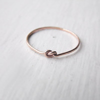 Thin Knot Ring Rose Gold Fill