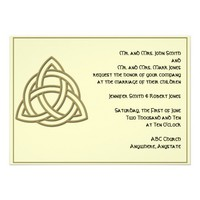 Celtic Knot in Harvest Gold and Mythic Ivory Personalized Invite from Zazzle.com