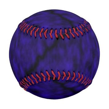 Blue Patterned Baseball