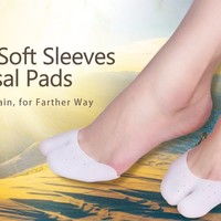 Yosoo Ball of Foot Cushion Blisters Pads Metatarsal Insoles Gel Toe Bunion Sleeves for Mortons Neuroma Pain Relief Corn Inserts