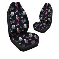Mermaid Pattern Print Car Seat Covers