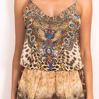 Maddy Leopard Print Playsuit